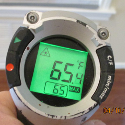 Home Inspections Temperature Guage